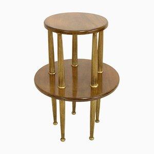 Table Piédestal Art Déco en Acajou, années 20