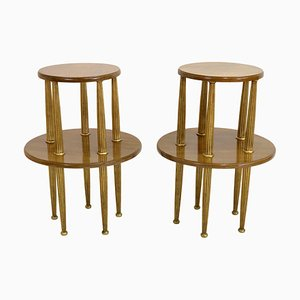 Art Deco Mahogany Side Tables, 1920s, Set of 2