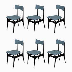 Mid-Century Esszimmerstühle von Alfred Hendrickx für Belform, 1958, 6er Set