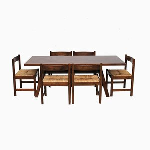 Torbecchia Dining Table & Chairs by Giovanni Michelucci for Poltronova, 1960s, Set of 7