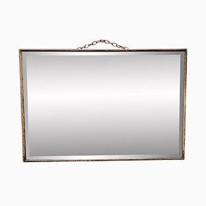 Miroir D243 Vintage en Bois et en Verre Biseauté
