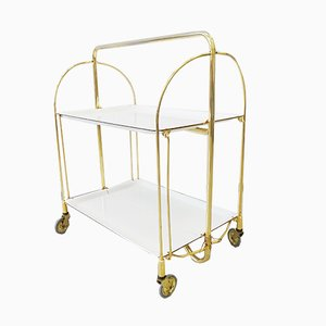 German Gold and White Foldable Trolley, 1960s