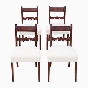 Antike Regency Esszimmerstühle, 1820er, 4er Set