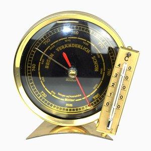 Barómetro con termómetro de Feingerätebau Fischer, años 50