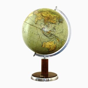 Vintage Globe with Compass, 1930s