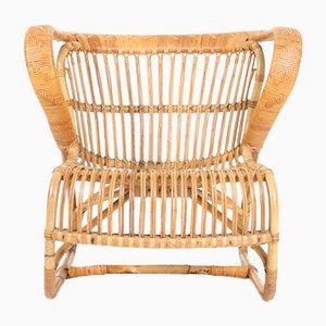 Dänischer Sessel aus Bambus, 1950er