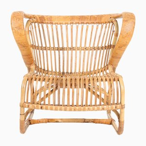 Danish Bamboo Lounge Chair, 1950s