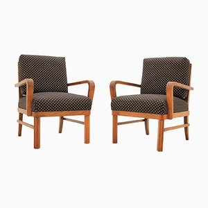 Polka Dot Armchairs, 1930s, Set of 2