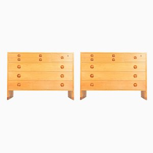 Mid-Century Oak Dressers by Hans J. Wegner for Ry furniture, 1950s, Set of 2