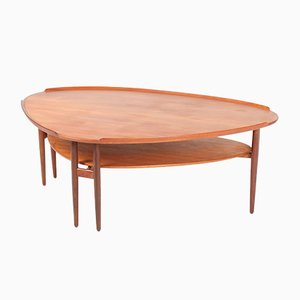 Danish Teak Coffee Table by Arne Vodder for Bovirke, 1950s