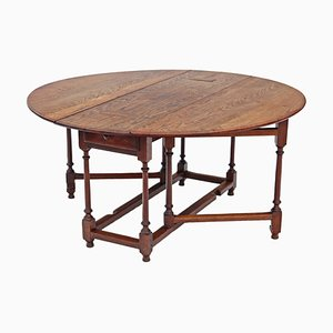 Large 19th Century Oak Dining Table