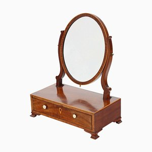 Espejo georgiano antiguo de caoba, década de 1800