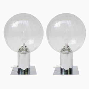 Lámparas de mesa era espacial pequeñas, años 70. Juego de 2
