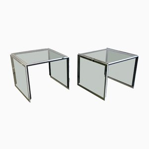 Tables de Chevet par Willy Rizzo, années 70, Set de 2