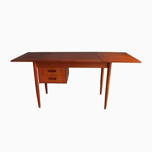 Danish Teak Desk by Gunnar Nielsen Tibergaard for Tibergaard, 1950s