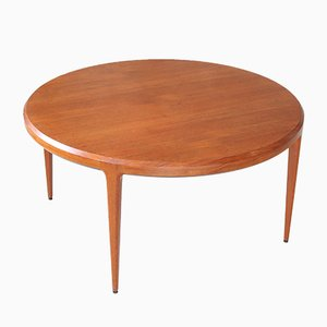 Mid-Century Round Teak Coffee Table by Johannes Andersen for CFC Silkeborg