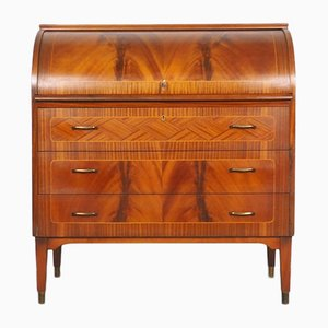 Swedish Roll-Top Secretaire from Broderna Gustafssons, 1960s