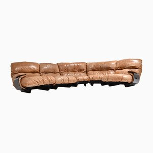 Vintage Marsala Sofa by Michel Ducaroy for Ligne Roset