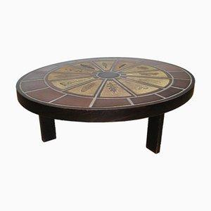 Tavolino da caffè Mid-Century in ceramica di Roger Capron