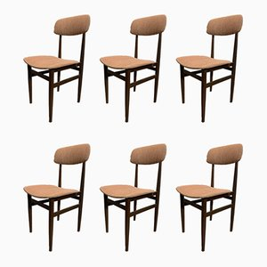 Mid-Century Chestnut Dining Chairs, 1960s, Set of 6