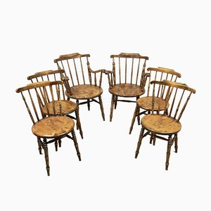 Antique Swedish Dining Chairs, Set of 6