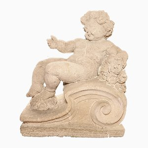 Antique Italian Stone Putto