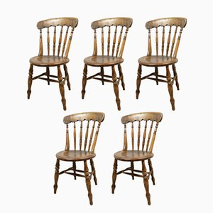 Antique Kitchen Chairs, Set of 5