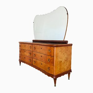 Burr Mirrored Dresser, 1950s