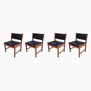 Dänische Vintage Esszimmerstühle aus Teak, 1970er, 4er Set