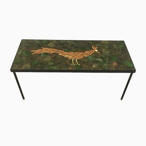 Ceramic, Brass, and Steel Coffee Table, 1960s