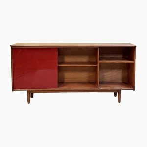 Vintage Mahogany and Glass Buffet, 1970s
