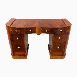 Schreibtisch aus Nussholz, 1930er