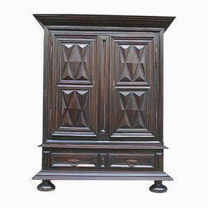 Large Antique French Louis XIII Walnut and Oak Wardrobe