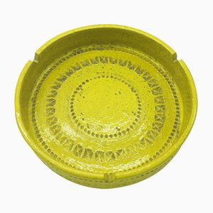 Mid-Century Yellow Ashtray by Aldo Londi for Bitossi