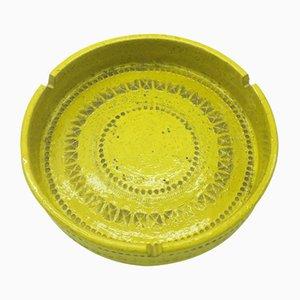 Posacenere Mid-Century giallo di Aldo Londi per Bitossi