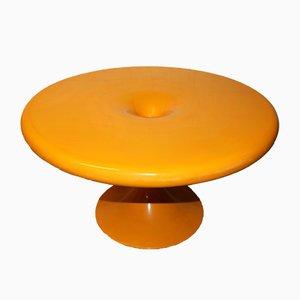 Tavolo da pranzo giallo di Eero Aarnio per Asko, anni '60