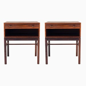 Mid-Century Rosewood Nightstands by Sven Engström & Gunnar Myrstrand for Tingströms, 1960s, Set of 2