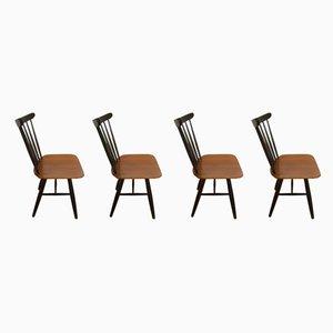Esszimmerstühle aus Teak von Ilmari Tapiovaara, 1960er, 4er Set