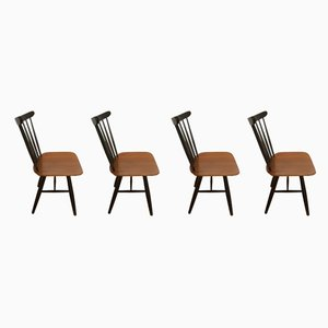 Teak Dining Chairs by Ilmari Tapiovaara, 1960s, Set of 4