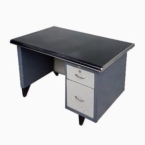 Industrieller Mid-Century Schreibtisch aus Stahl, 1950er