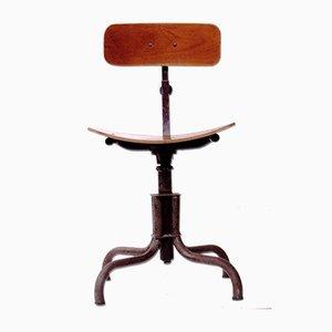 Chaise Pivotante Industrielle de Bienaise, années 50