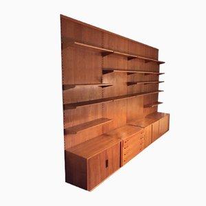 Conjunto de pared modular danés de Kai Kristiansen para FM Møbler, años 60