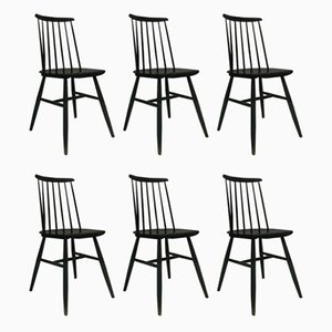Mid-Century Fanett Dining Chairs by Ilmari Tapiovaara, Set of 6
