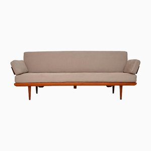 Sofá cama de teca de Peter Hvidt & Orla Mølgaard-Nielsen para France & Søn / France & Daverkosen, años 50