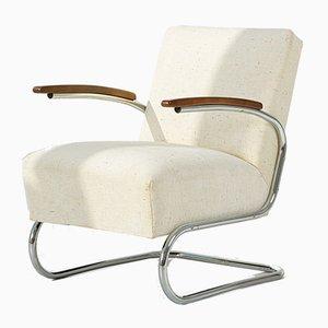 Model S411 Lounge Chair by Willem Hendrik Gispen for Mücke Melder, 1930s