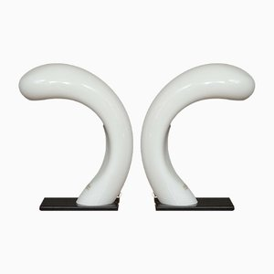 Lampes de Bureau Cobra en Verre de Murano d'Effetre International, années 60, Set de 2