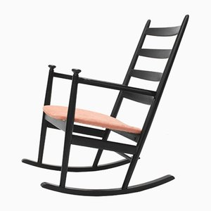 Black and Pink Rocking Chair from Niels Eilersen, 1960s