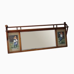 Large Antique Overmantle Mirror