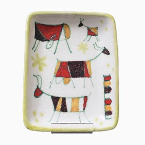 Assiette en Céramique par Guido Gambone, Italie, années 50