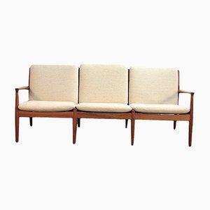Sofa mit Gestell aus Teak von Grete Jalk für France & Søn / France & Daverkosen, 1960er